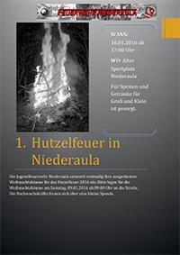 Hutzelfeuer in Niederaula